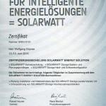 Zertifizierung SOLARWATT ENERGY SOLUTION - Storage PARALLEL 3.0