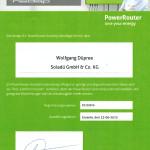 NEDAP - Zertifikat 1# 50876 - URKUNDE - Certified Installer